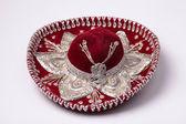Red mexican sombrero — Stock Photo