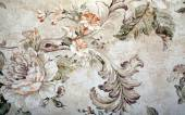 Vintage wallpaper with floral victorian pattern and craquelure — Stock Photo