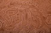 Vintage brown wallpaper with paisley pattern — Stock Photo