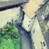 Innenhof des Schloss Chillon, Montreux, Schweiz. — Stockfoto