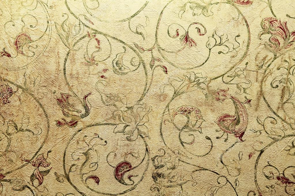 Vintage shabby chic wallpaper with floral victorian pattern stock photo f - Papier peint shabby chic ...