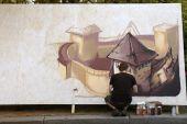 Street painters graffiti, Kiev, Ukraine — Φωτογραφία Αρχείου