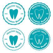 Zub odznak — Stock vektor