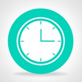Clock symbol vector — Stock Vector