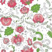 Seamless hand-drawn floral pattern. Vector illustration. — Stock Vector