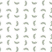 Seamless hand-drawn pattern with doodle leaves. Vector illustration. — Stock Vector