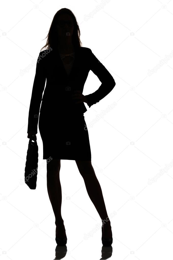 Фото силуэта женщины