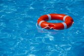 A buoy on the water surface — Stock Photo