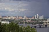 Kiev landscape before the storm — Stock Photo