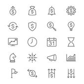 Business thin icons — Stock Vector