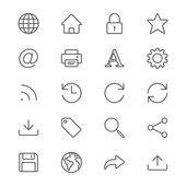 Web thin icons — Stock Vector