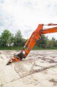 Part of excavator — Stock Photo
