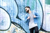 Stylish man with beard and casual clothing — Stock Photo