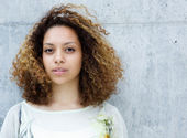 Portrait of a beautiful young mixed race woman — Stock Photo