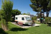 Caravan in campsite — Stock Photo