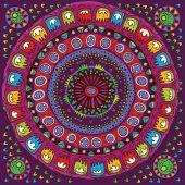 Abstract Flower Mandala. Decorative element for design. Vector illustration. — Stock Vector