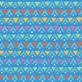 Elle çizilmiş dikişsiz desen üçgen ile — Stok Vektör