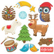 Vector toys set for Christmas holidays — Stock Vector #53688797