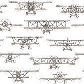 Samolotem bezszwowe wzór — Wektor stockowy