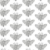 Seamless pattern with fly — Stock Vector