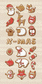 Collection of Christmas cookies — Stock Vector