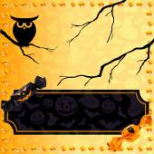 Fun Halloween candy banner — Stock Vector