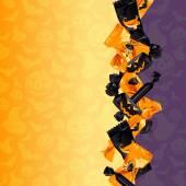 カラフルなハロウィーンのキャンディ バック グラウンド — ストックベクタ