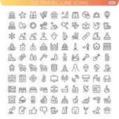 Travel Line Icons for Web and Mobile. — Stock Vector