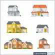 House icon set 1. — Stock Vector #68040639
