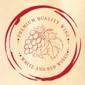 Projektowanie etykiet do wina. — Wektor stockowy