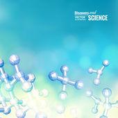 Atom, molekula. — Stock vektor