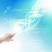 Biochemistry infographics. — Stock Vector