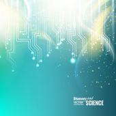 Fondo de ciencia abstracta. — Vector de stock