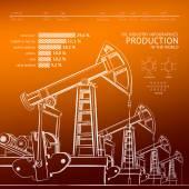 Pompa olejowa. — Wektor stockowy