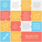 Set van plat medische pictogrammen — Stockvector
