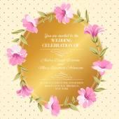 Wedding invitation. — Vector de stock
