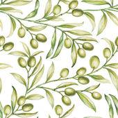 Seamless olive. — Stock Photo