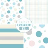 Pretty pastel vector seamless patterns. — Stock Vector