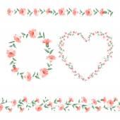 σύνολο πλαισίων λουλούδι — Διανυσματικό Αρχείο