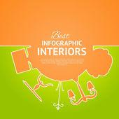Interior circle infographics. — Stockvektor