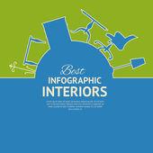 Flat colors infographics — Stockvektor