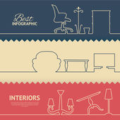 Flat colors infographics — Vector de stock
