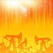 Industria petrolera. — Vector de stock