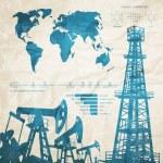 Oil infographics. — Stock Vector #56111329