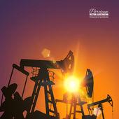 Industrie pétrolière. — Vecteur