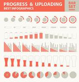 Pregress and uploading. — Stock Vector