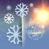 Christmas snow card. — Stock Vector