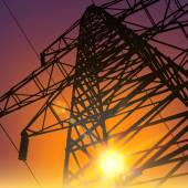 Electrical Transmission Line — Wektor stockowy