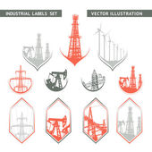 Industrial Lable Set. — Stock Vector