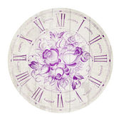 Vintage flower clock — Stock Photo